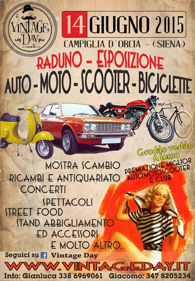 Vintage Day, Raduno Auto Moto Scooter Biciclette