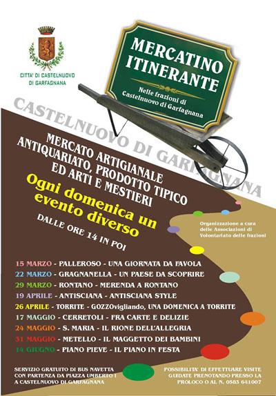 Mercatino Itinerante a Castelnuovo di Garfagnana