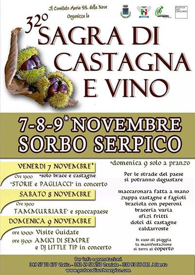 Sagra di castagna e vino - 32 edizione