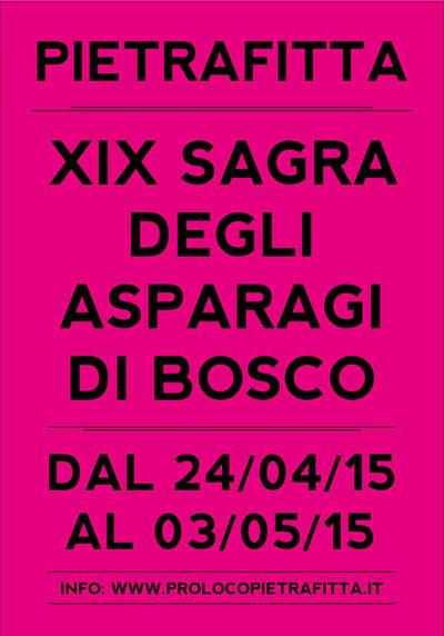 XIX Sagra degli Asparagi di Bosco a Pietrafitta