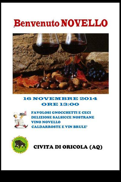 Benvenuto NOVELLO a Oricola (AQ)