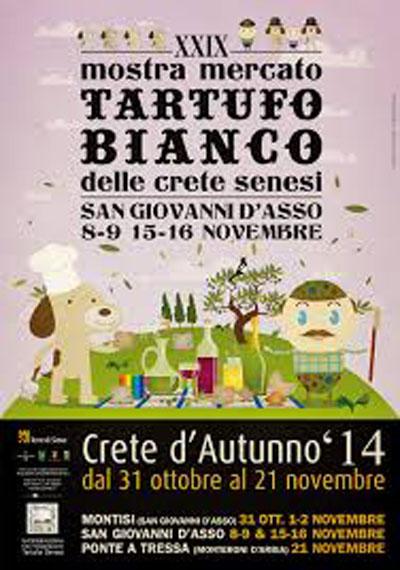 Mostra Mercato Tartufo Bianco delle Crete Senesi in provincia di Siena