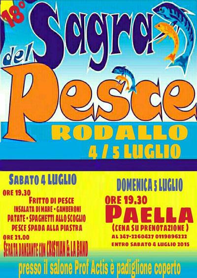 18^ Sagra del Pesce a Rodallo
