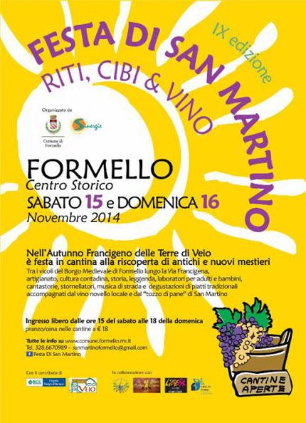 Festa di San Martino - Riti, Cibo & Vino a Formello (RM)
