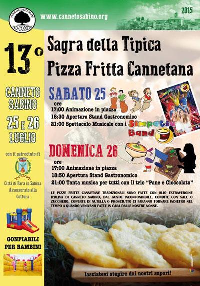 13^ Sagra della Tipica Pizza Fritta Cannetana