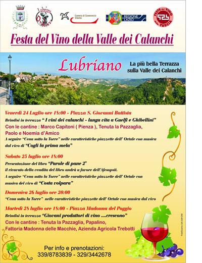 Festa del Vino della Valle dei Calanchi