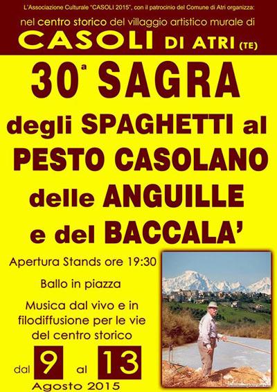 30^ Sagra degli Spaghetti al Pesto Casolano delle Anguille e del Baccalà