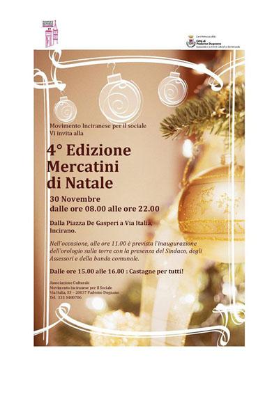 Mercatini di Natale a Incirano, Paderno Dugnano (MI)