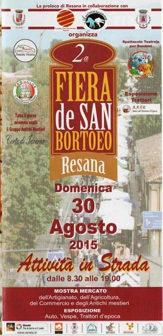 2^ Fiera de San Bortoeo