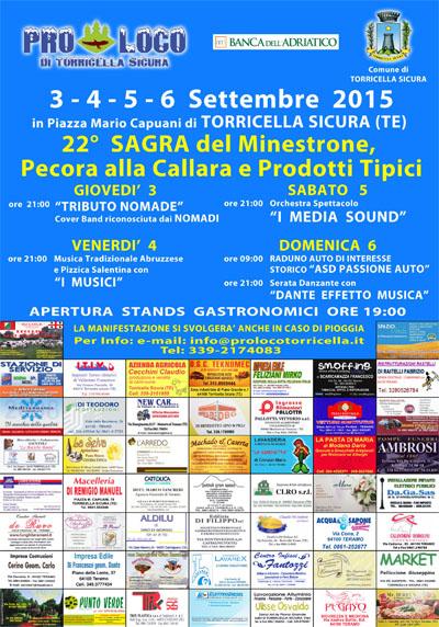 22^ Sagra del Minestrone, Pecora alla Callara e Prodotti Tipici
