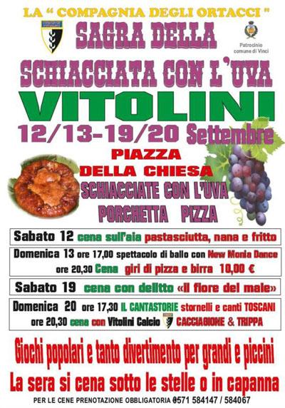 Sagra della Schiacciata con l'Uva Vitolini