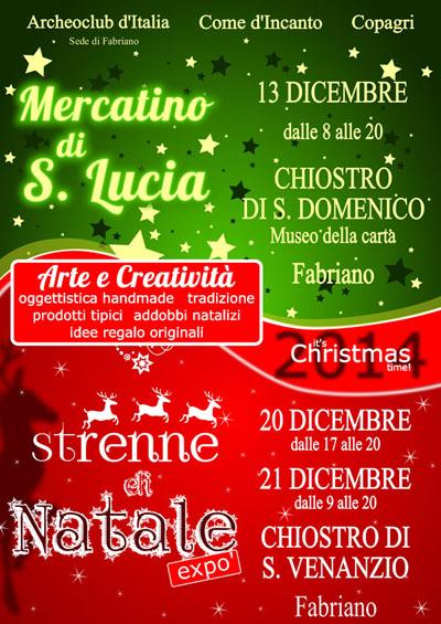 Mercatino di Santa Lucia e Mercatino di Natale a Fabriano