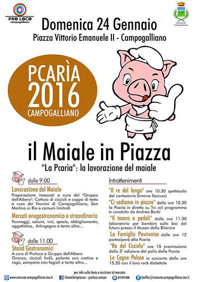 'La Pcarìa': il Maiale in Piazza