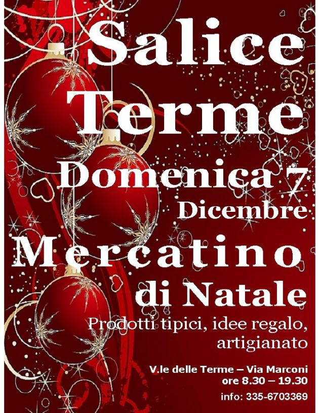 Mercatini di Natale a Salice Terme