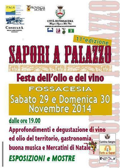 Sapori a Palazzo, Festa dell'Olio e del Vino
