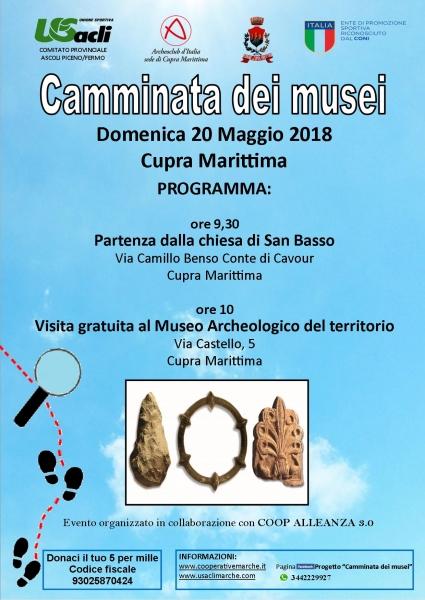A Cupra Marittima la terza tappa del progetto 'Camminata dei musei' Iniziativa programmata nell'Anno europeo del patrimonio culturale.