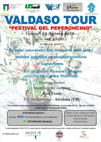 Giovedì 23 agosto sesto appuntamento con 'Valdaso tour' Questa volta si va a Campofilone per il 'Festival del peperoncino'