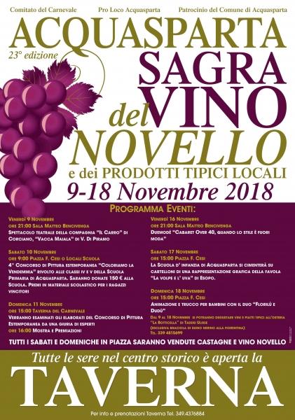 Sagra del vino novello e dei prodotti tipici locali - 23° Edizione