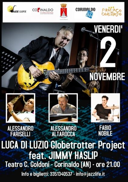 Luca di Luzio 'Globetrotter project' ft. Jimmy Haslip al Teatro Goldoni di Corinaldo.