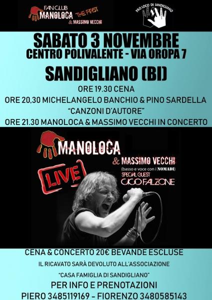 Sandigliano rock live con il cantautorato italiano.