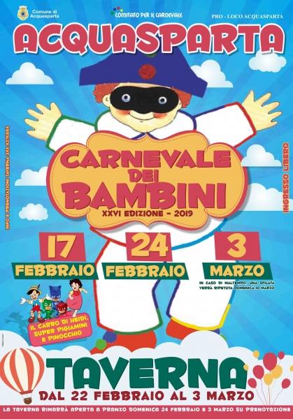 Carnevale dei bambini di Acquasparta XXVI Edizione