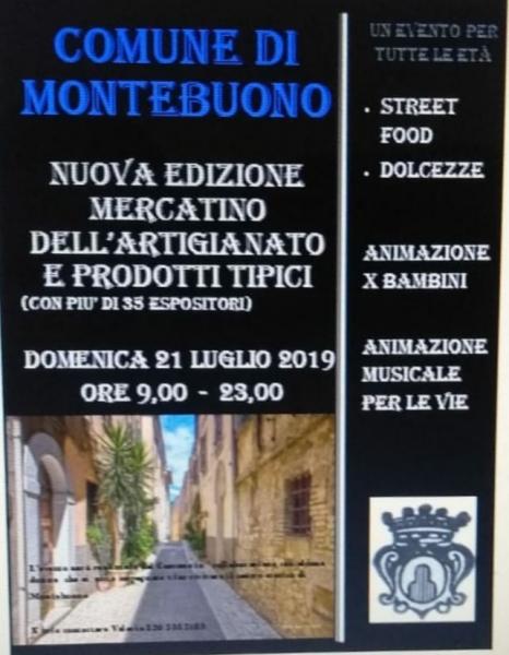 Nuova edizione del mercatino dell'artigianato a Montebuono Sabino