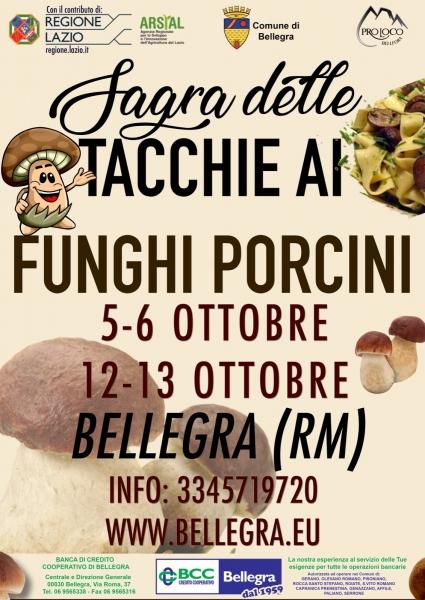 SAGRA DELLE TACCHIE AI FUNGHI PORCINI