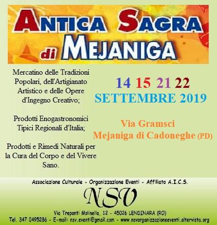 Mercatino dell'Antica Sagra di Mejaniga