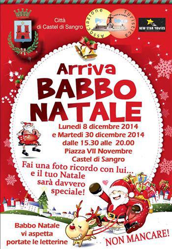 Arriva Babbo Natale a Castel di Sangro