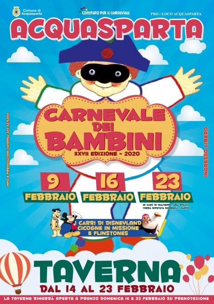 Carnevale dei bambini di Acquasparta XXVII edizione