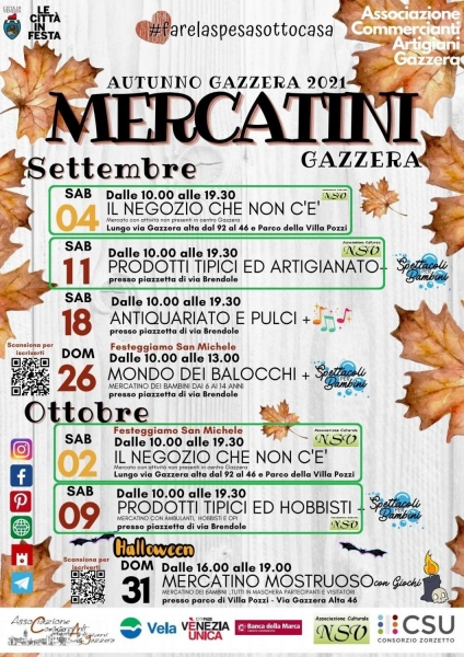 Mercatini Gazzera -Autunno Gazzera 2021