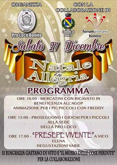 Natale in Allegria a Bonito