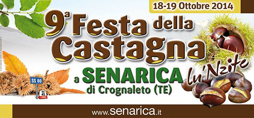 Festa della castagna a Senarica di Crognaleto