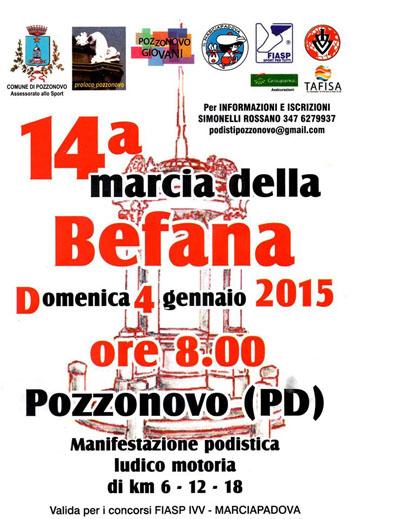XIV Marcia della Befana a Pozzonovo