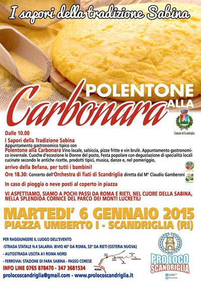Polentone alla Carbonara