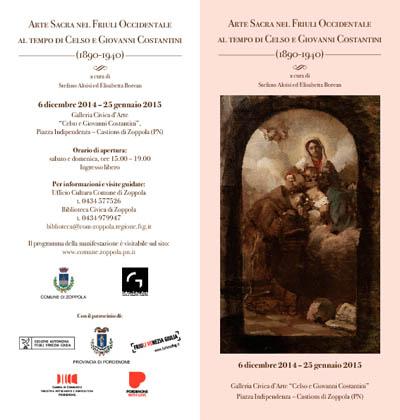 Arte Sacra nel Friuli Occidentale al tempo di Celso e Giovanni Costantini