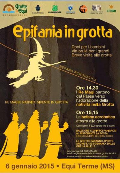Epifania in grotta a Equi Terme