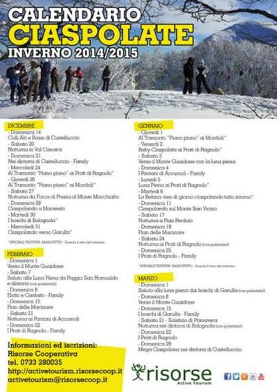 Ciaspolate Inverno 2014-2015