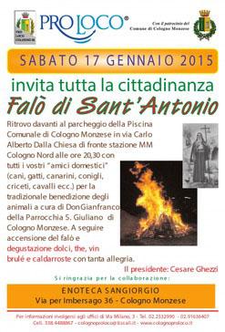 Falò di Sant'Antonio a Cologno Monzese