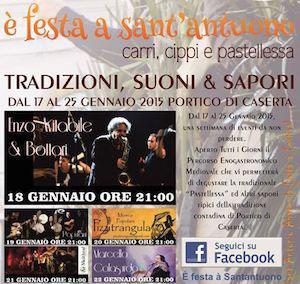E' Festa a Sant'Antuono a Portico di Caserta